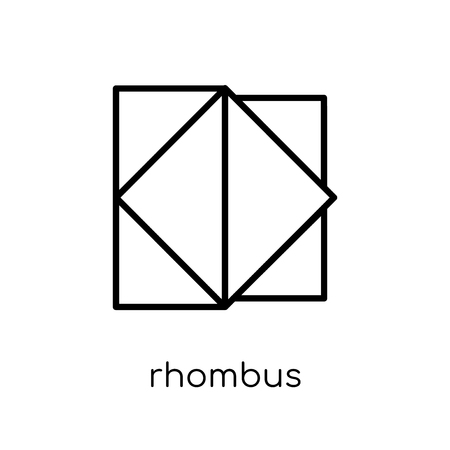 rhombus icon. Trendy modern flat linear vector rhombus icon on white background from thin line Geometry collection, outline vector illustration 일러스트