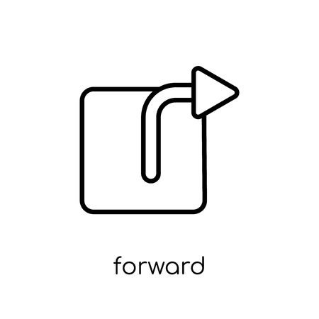 forward icon. Trendy modern flat linear vector forward icon on white background from thin line collection, outline vector illustration