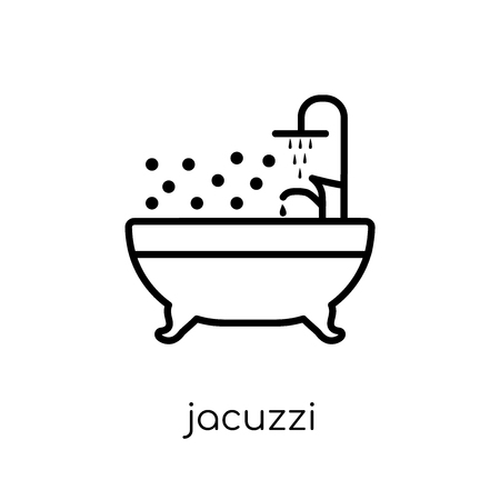 Jacuzzi icon. Trendy modern flat linear vector Jacuzzi icon on white background from thin line Luxury collection, editable outline stroke vector illustration
