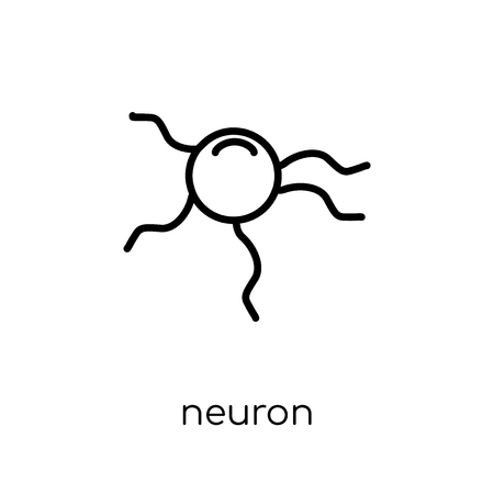Neuron icon. Trendy modern flat linear vector Neuron icon on white background from thin line Human Body Parts collection, editable outline stroke vector illustration Illustration