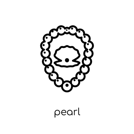 Pearl icon. Trendy modern flat linear vector Pearl icon on white background from thin line Luxury collection, editable outline stroke vector illustration
