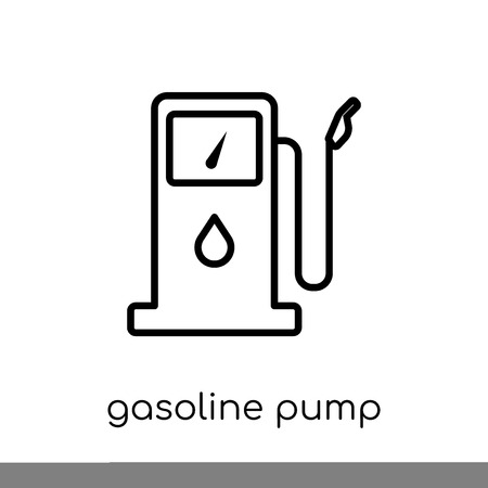 gasoline pump icon. Trendy modern flat linear vector gasoline pump icon on white background from thin line Industry collection, outline vector illustration