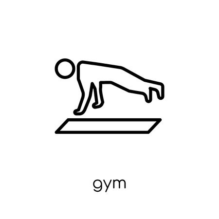 Gym icon. Trendy modern flat linear vector Gym icon on white background from thin line Gym and fitness collection, editable outline stroke vector illustration