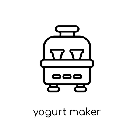 yogurt maker icon. Trendy modern flat linear vector yogurt maker icon on white background from thin line Kitchen collection, outline vector illustration