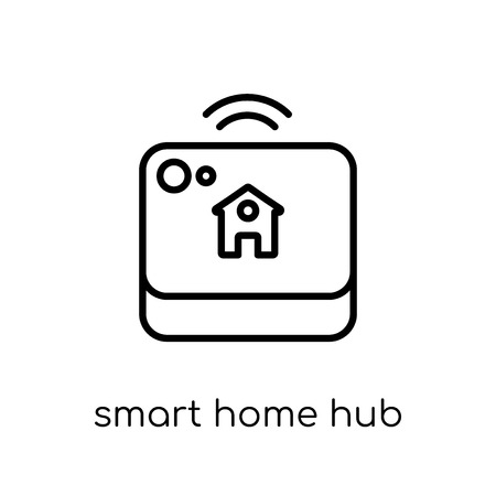 smart home hub icon. Trendy modern flat linear vector smart home hub icon on white background from thin line General collection, editable outline stroke vector illustration