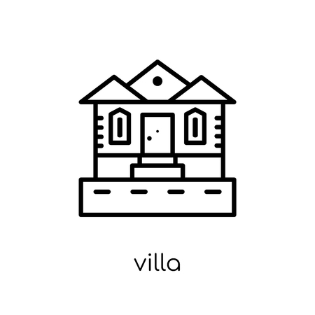 Villa icon. Trendy modern flat linear vector Villa icon on white background from thin line Luxury collection, editable outline stroke vector illustration