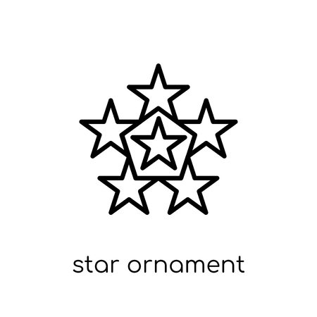 star ornament of triangles icon. Trendy modern flat linear vector star ornament of triangles icon on white background from thin line Geometry collection, outline vector illustration