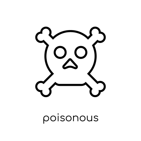 Poisonous icon. Trendy modern flat linear vector Poisonous icon on white background from thin line Health and Medical collection, editable outline stroke vector illustration