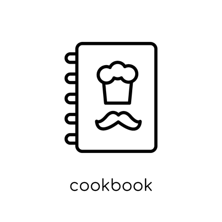 cookbook icon. Trendy modern flat linear vector cookbook icon on white background from thin line Restaurant collection, outline vector illustration