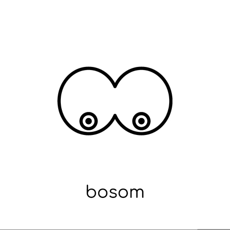 Bosom icon. Trendy modern flat linear vector Bosom icon on white background from thin line Human Body Parts collection, editable outline stroke vector illustration Illustration