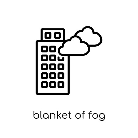 blanket of fog icon. Trendy modern flat linear vector blanket of fog icon on white background from thin line Weather collection, outline vector illustration