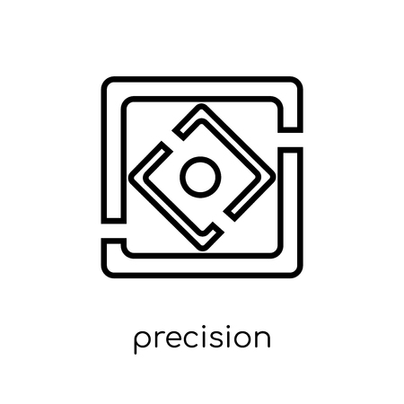 Precision icon. Trendy modern flat linear vector Precision icon on white background from thin line Maps and Locations collection, editable outline stroke vector illustration