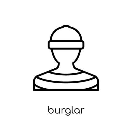 Burglar icon. Trendy modern flat linear vector Burglar icon on white background from thin line law and justice collection, editable outline stroke vector illustration Illustration