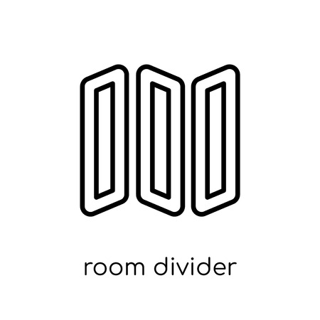 room divider icon. Trendy modern flat linear vector room divider icon on white background from thin line Furniture and household collection, outline vector illustration  イラスト・ベクター素材