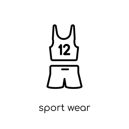 Sport wear icon. Trendy modern flat linear vector Sport wear icon on white background from thin line Gym and fitness collection, editable outline stroke vector illustration Banque d'images - 111337584