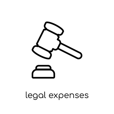 legal expenses icon. Trendy modern flat linear vector legal expenses icon on white background from thin line Insurance collection, editable outline stroke vector illustration