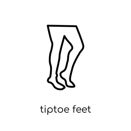 Tiptoe feet icon. Trendy modern flat linear vector Tiptoe feet icon on white background from thin line Human Body Parts collection, editable outline stroke vector illustration