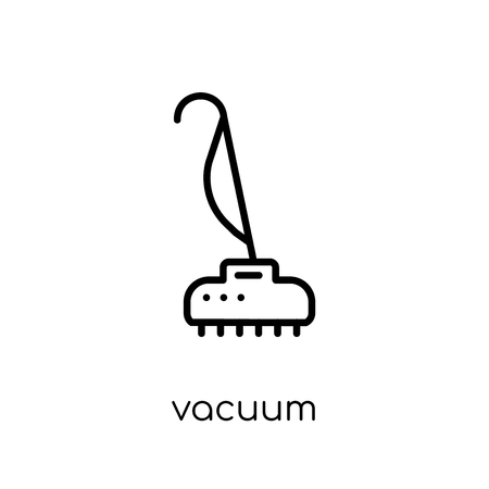 vacuum icon. Trendy modern flat linear vector vacuum icon on white background from thin line collection, outline vector illustration Foto de archivo - 111906653