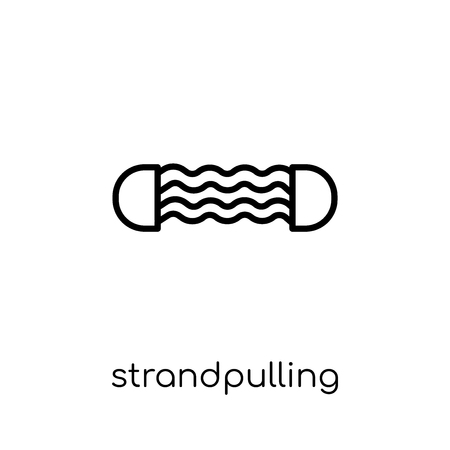 Strandpulling icon. Trendy modern flat linear vector Strandpulling icon on white background from thin line Gym and fitness collection, editable outline stroke vector illustration Illustration