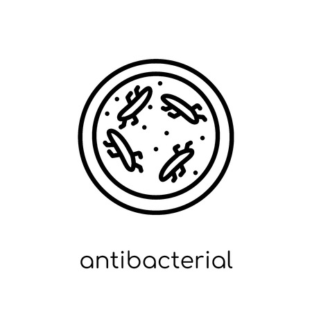 antibacterial icon. Trendy modern flat linear vector antibacterial icon on white background from thin line Hygiene collection, outline vector illustration