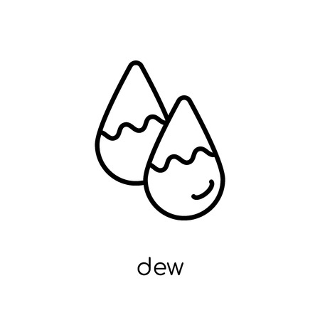 dew icon. Trendy modern flat linear vector dew icon on white background from thin line Weather collection, outline vector illustration  イラスト・ベクター素材