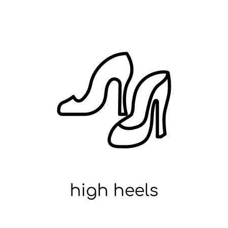 High heels icon. Trendy modern flat linear vector High heels icon on white background from thin line Luxury collection, editable outline stroke vector illustration Illustration