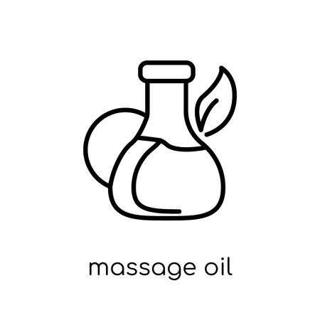 massage oil icon. Trendy modern flat linear vector massage oil icon on white background from thin line General collection, editable outline stroke vector illustration