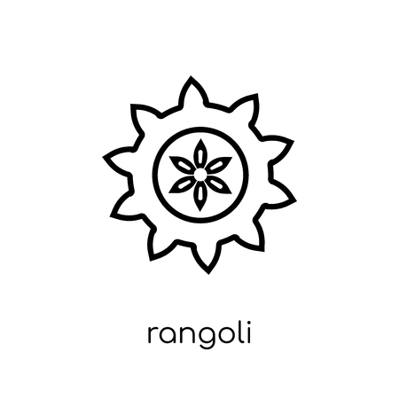 Rangoli icon. Trendy modern flat linear vector Rangoli icon on white background from thin line india collection, editable outline stroke vector illustration
