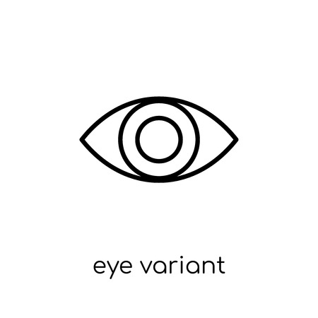 eye variant with enlarged pupil icon. Trendy modern flat linear vector eye variant with enlarged pupil icon on white background from thin line Human Body Parts collection, outline vector illustration Иллюстрация