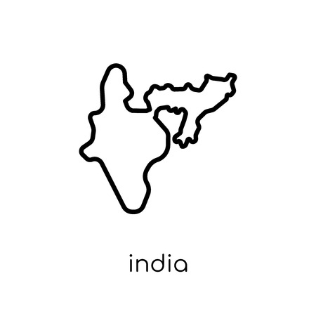India icon. Trendy modern flat linear vector India icon on white background from thin line india collection, editable outline stroke vector illustration