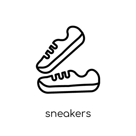 Sneakers icon. Trendy modern flat linear vector Sneakers icon on white background from thin line Gym and fitness collection, editable outline stroke vector illustration