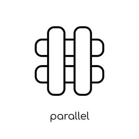 parallel icon. Trendy modern flat linear vector parallel icon on white background from thin line Geometry collection, outline vector illustration Illustration