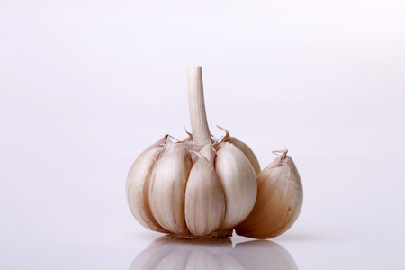 garlic clove: Isolated Garlic clove on White background