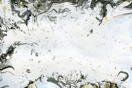arty: Abstract seamless watercolour aquarelle hand drawn wash drawing arty grunge creative strokes blots and blobs paper texture on gray background, horizontal picture