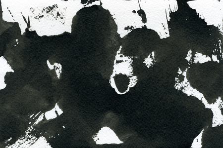 arty: Abstract seamless watercolour aquarelle hand drawn wash drawing arty grunge creative stains blots and blobs black and white on paper texture background, horizontal picture