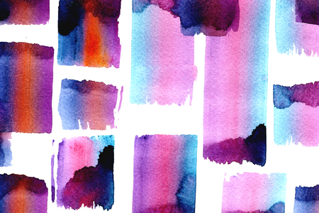 splotches: Bright colored watercolor splotches on white background hand drawn freehand texture wallpaper decor