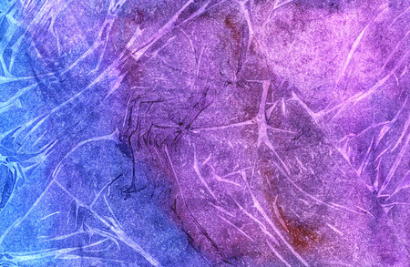 hues: Colorful seamless blue purple hues hand drawn watercolor striped illustration wrinkled paper texture with creases