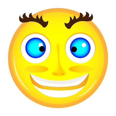 crazy face: Mad emoticon yellow color with crazy face