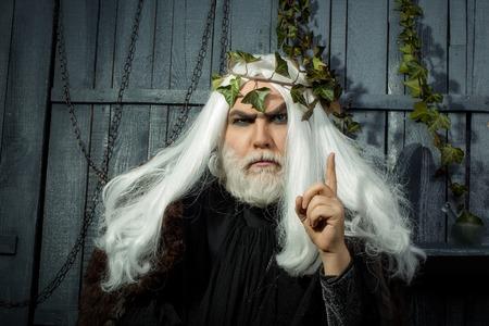 metaphysics: Zeus god or jupiter with vine crown. Mythology, ancient Greece
