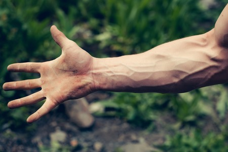adern stark sichtbar hand