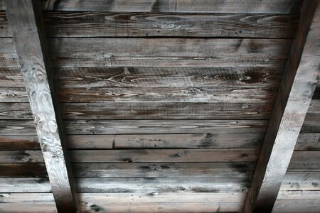rafters: Old wood ceiling with beams on timber background