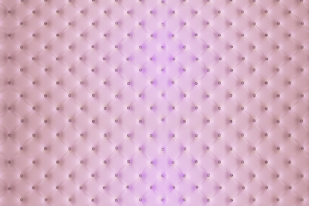 Buttoned pink leather wall with vignetting on padding background Stock Photo