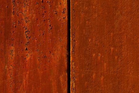 reddish: Abstract background of two iron reddish rusty old parts