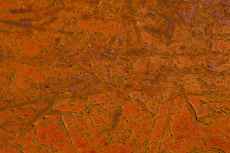 reddish: Old reddish rusty metal background with corrosion and scratched surface Stock Photo