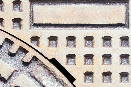 metallized: Abstract iron metallized rusty texture framework background