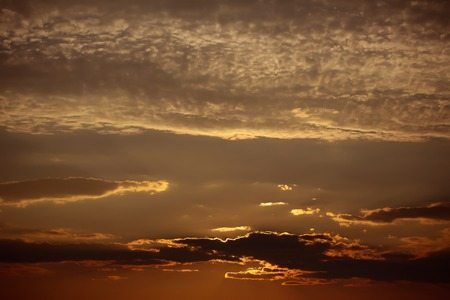 Spectacular dramatic dark sky at sunset with clouds horizon on evening natural background