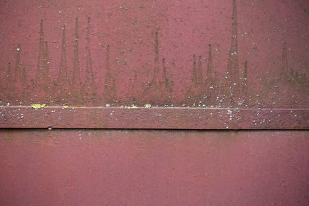 Rusted iron board red or brown color as blank metallized background