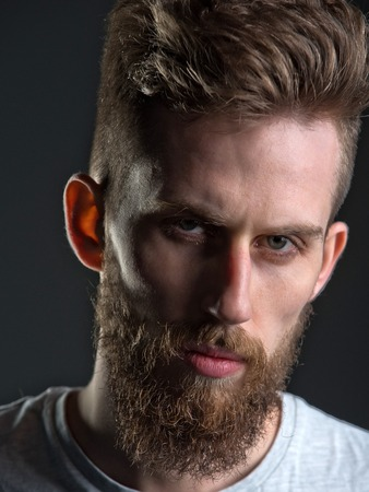 metrosexual: beauty and fashion, hairdresser and barber, barbershop and salon, hipster lifestyle, confidence and success Stock Photo