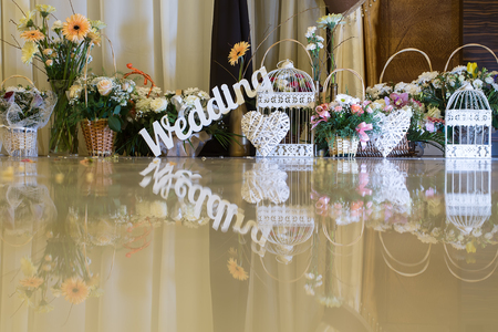 Wedding Decoration Beautiful Wedding Word With Cages Wicker