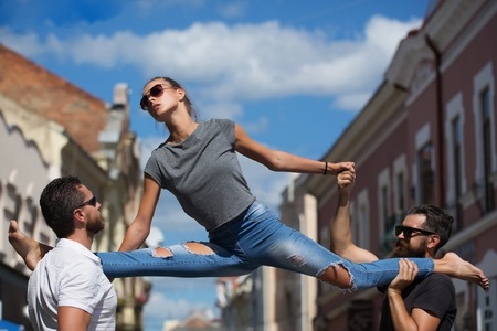 stretching exercises, gymnastics, sport, active lifestyle, summer activity, beauty and fashion, friends and relationship, dominance and matriarchy, people